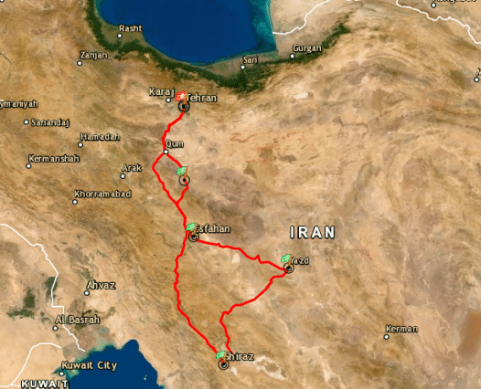 viaggio-iran-percorso