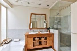 bagno piccolo legno design